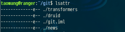 lsattr